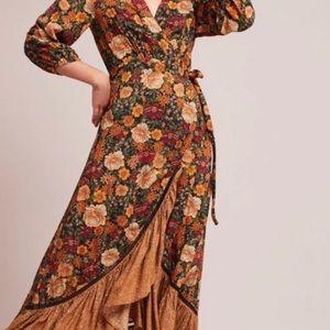 Anthropologie Farm Wrap Dress in Madrid